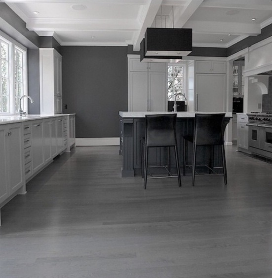 Gray Hardwood White Room
