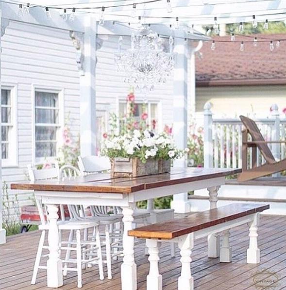 white patio decor