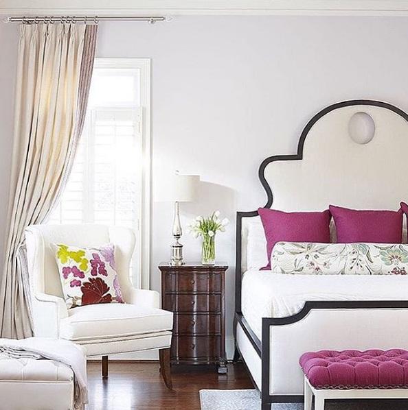 Magenta Bedroom: 3 Beautiful Bedroom Interiors For Fall 2016