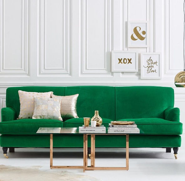 A Dark Blue Velvet Cushion Can Revitalize A Striking White Sofa, And Bring  The Room To Life. Turn To Wooden Cabinetry, A Gold Plated Mirror And  Neutral ...