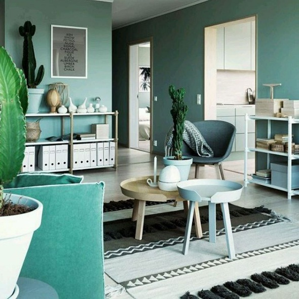 From Kelly Green Walls And Mint Stools Pots To Printed Rugs Decorative Cacti The Look Of Gorgeous Can Immediately Brighten A Neutral