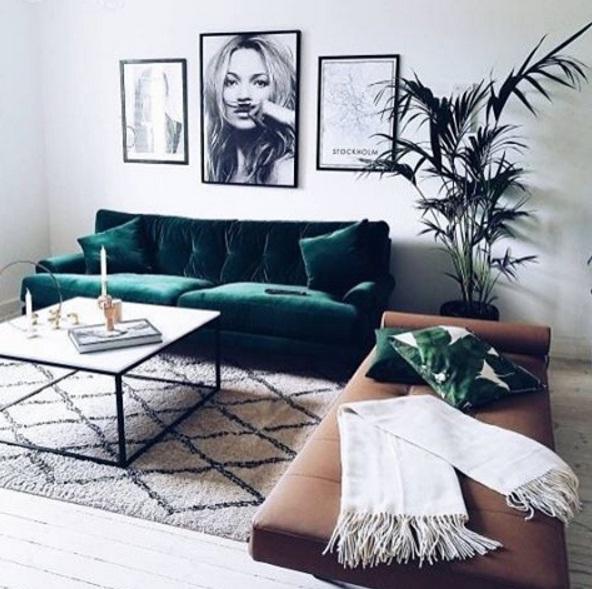 green shades lead as a popular interior design trend for 2017 - Popular Interior Design