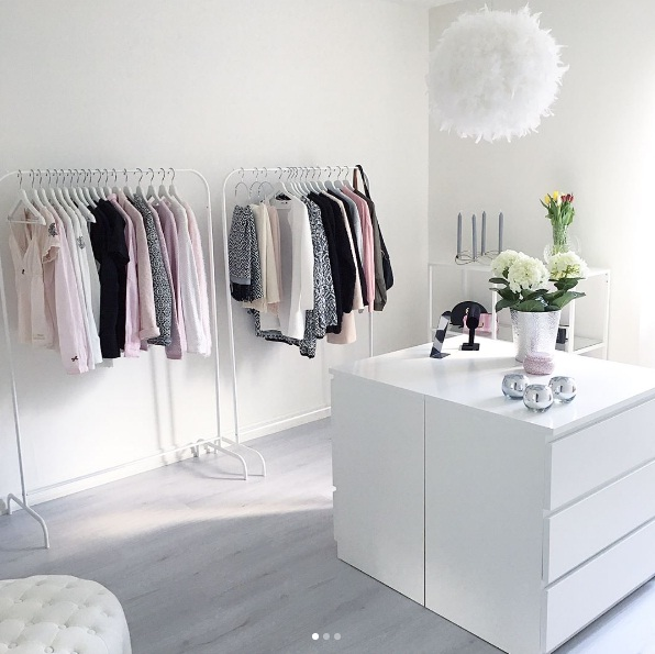 ... An Open Closet Can Receive A Boost From Quirky Shelves Made Of  Textured, Reclaimed Wood. Add An Area Rug And Some Metallic Touches To  Truly Feel Like A ...