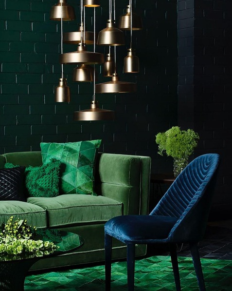 Green Interior Ideas For Your Home: Dark Green Is The Latest Trend In Interior Design